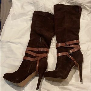 Sam Edelman heeled suede boots leather ankle belts